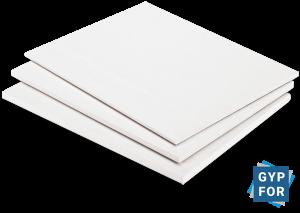 placas de yeso laminado standard de color blanco de Gypfor
