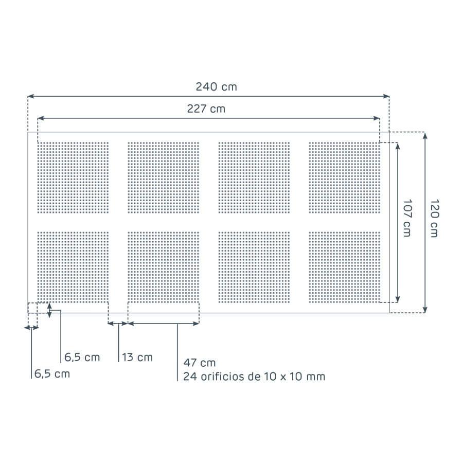 dimensiones de la placa Prégybel C10 N8 de Siniat