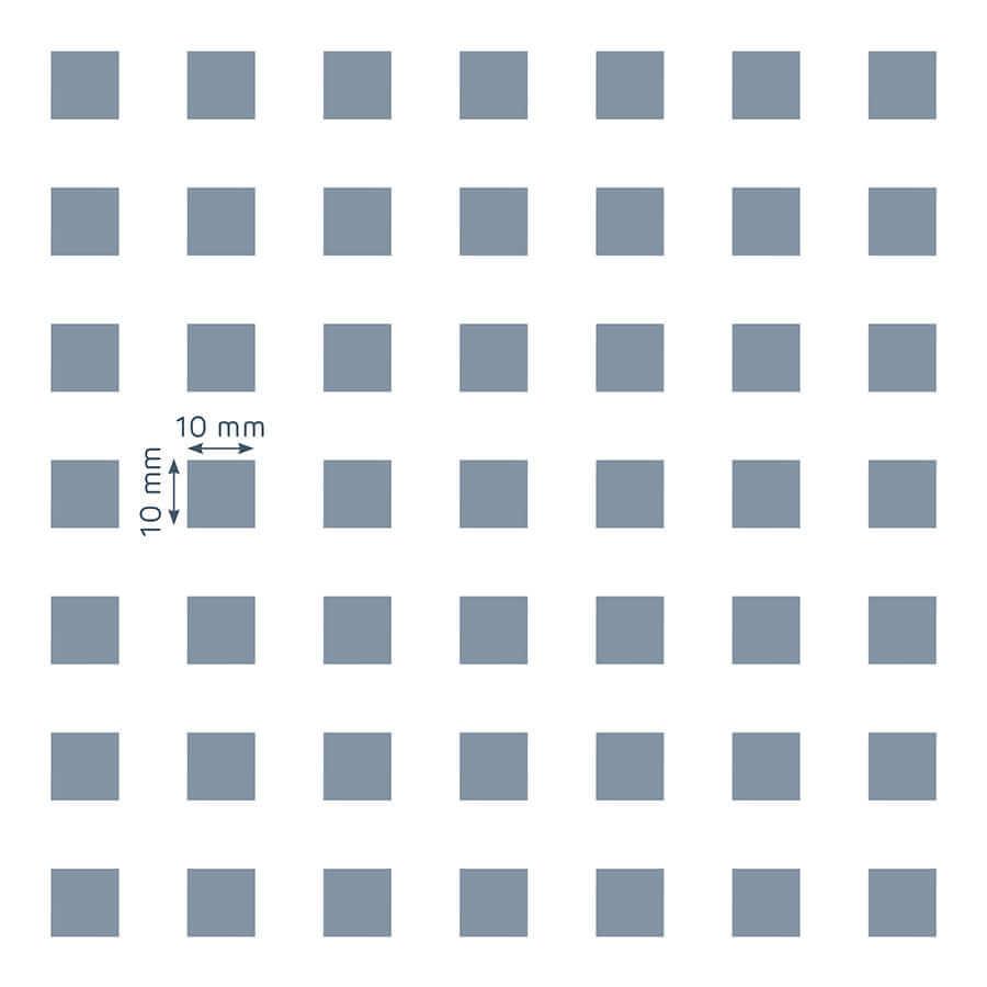patrón de perforación de la placa Prégybel C10 N8 de Siniat