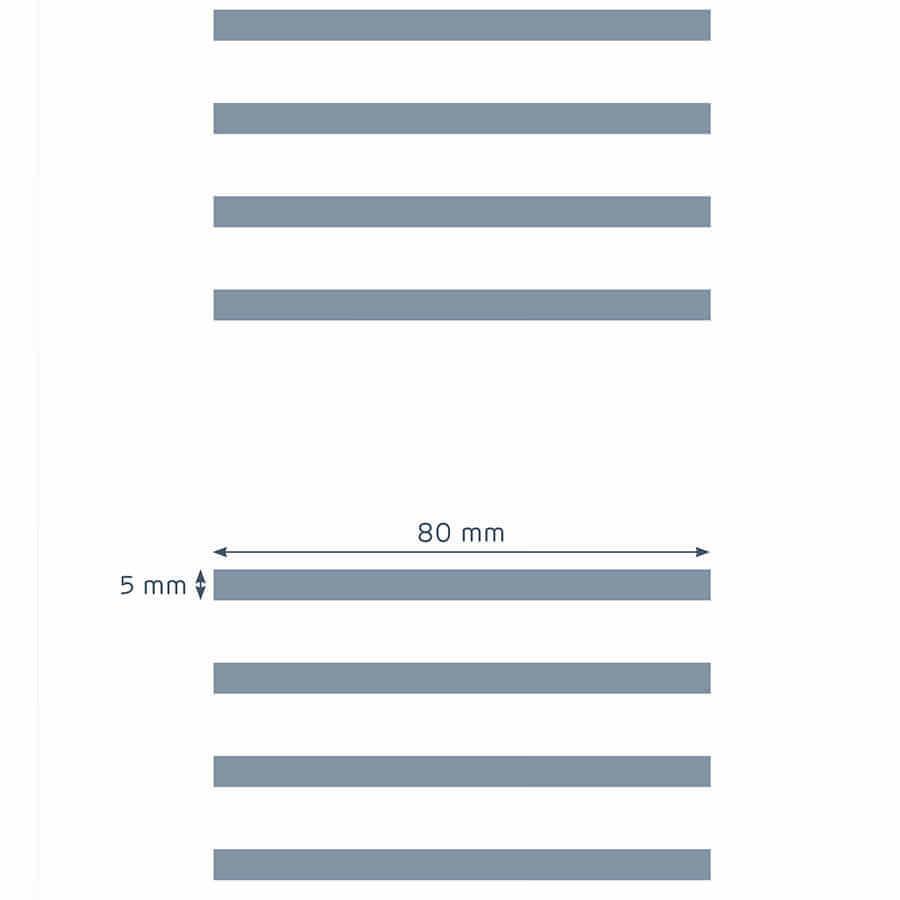 patrón de perforación de la placa Prégybel L580 N8 de Siniat