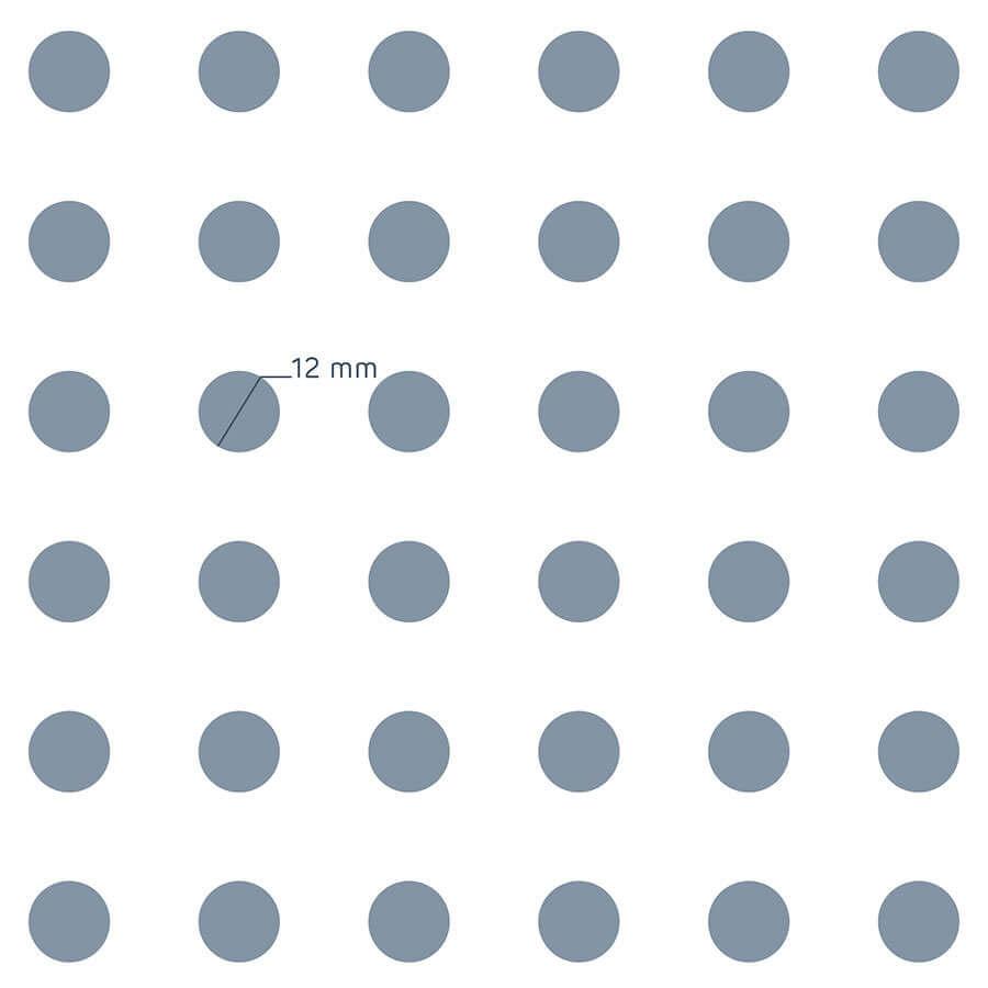 patrón de perforación de la placa Prégybel R12N2 de Siniat