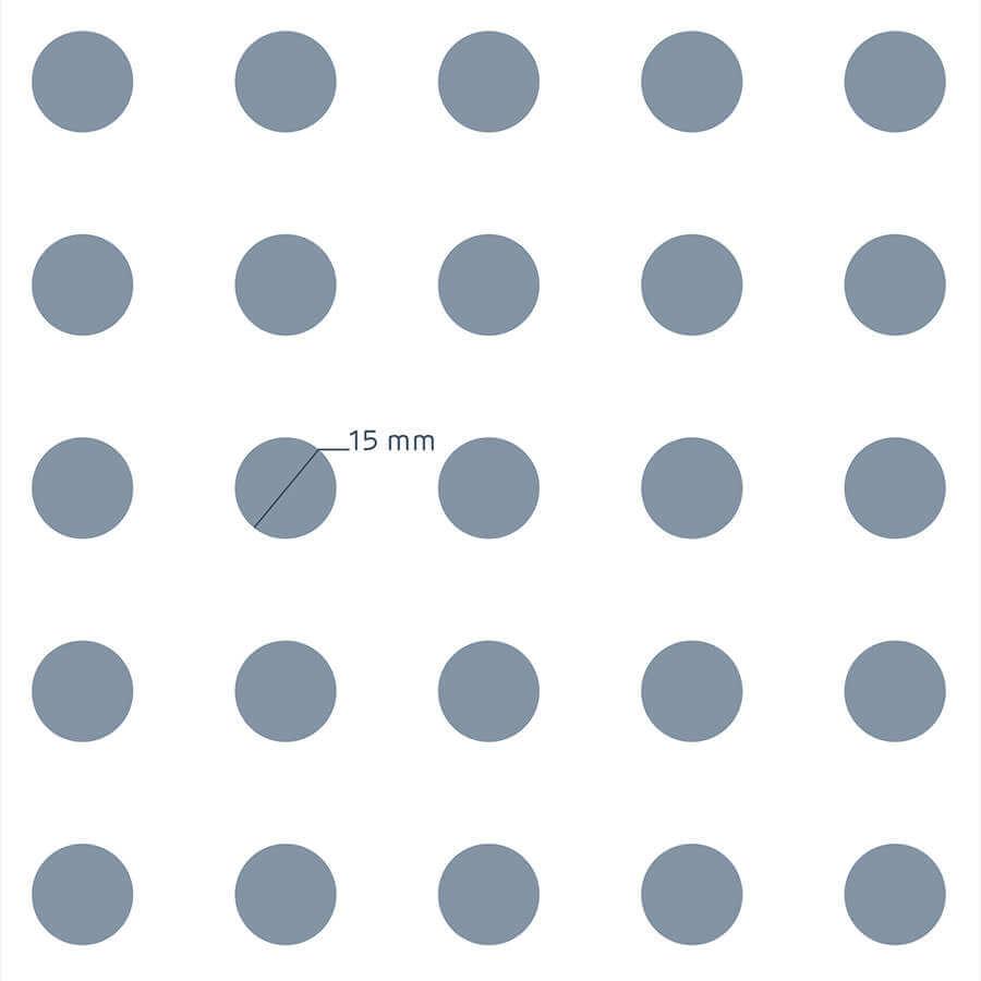 patrón de perforación de la placa Prégybel R15N1 de Siniat