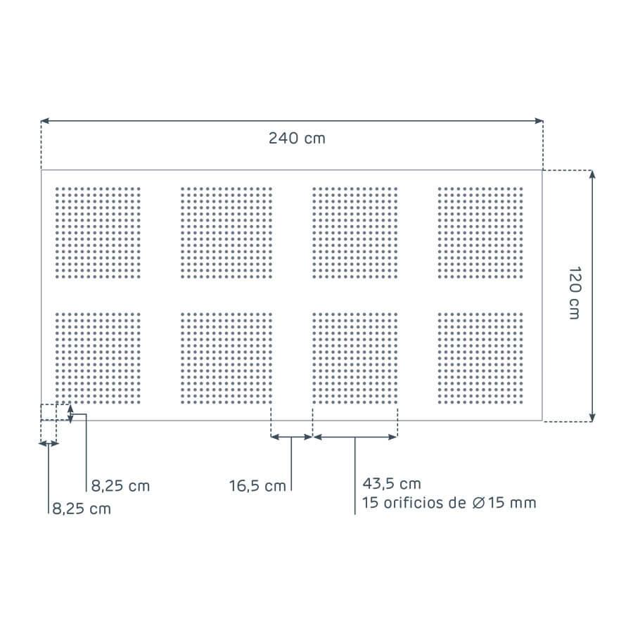 dimensiones de la placa Prégybel R15N8 de Siniat