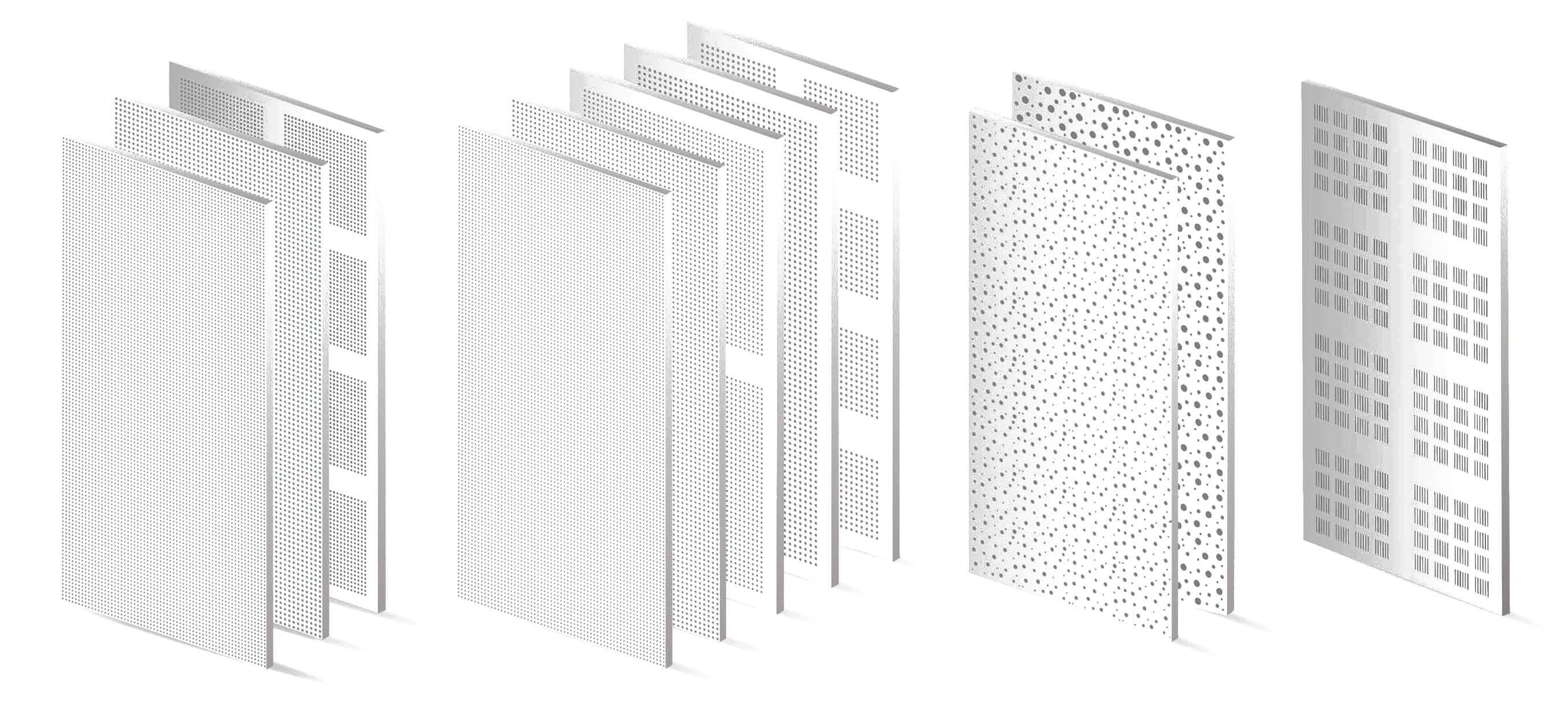 Los 11 modelos disponibles de la Placa Siniat Prégybel