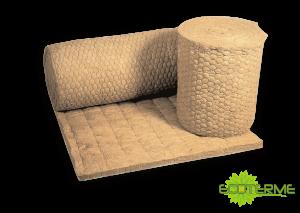 Mantas R de Lana de Roca ECOTERME ancladas con un soporte de red con acero galvanizado, para aplicaciones de Industria.