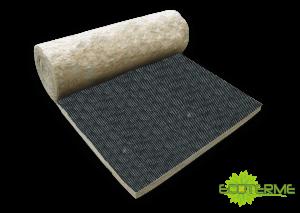 Manta Venticlad de Lana de Roca ECOTERME para aplicación como aislamiento térmico y acústico en fachadas ventiladas.