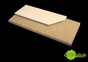 Paneles GC de Lana de Roca ECOTERME sin revestimiento, para aislamiento térmico y acústico. Aptos para acoplar en placas de yeso laminado.