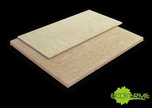 Paneles LF de Lana de Roca ECOTERME sin revestimiento, para aislamiento térmico, acústico y de ruidos de impacto en pavimentos.