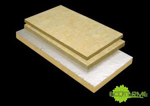 Paneles de Lana de Roca ECOTERME no revestidos (PI) o revestidos con Aluminio (PIA) para aplicaciones en la Industria.