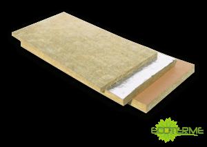 Panel de Lana de Roca ECOTERME sin revestimiento (PN 30), o revestidos con papel Kraft (PK30), o con una lámina de Aluminio (PA30) que actúa como barrera del vapor.