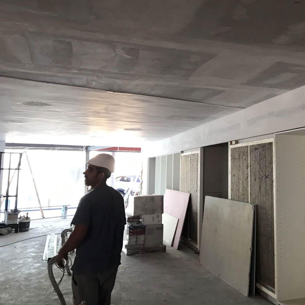 instalación para la obra de servicuias (cots i claret) para la hacienda de sabadell