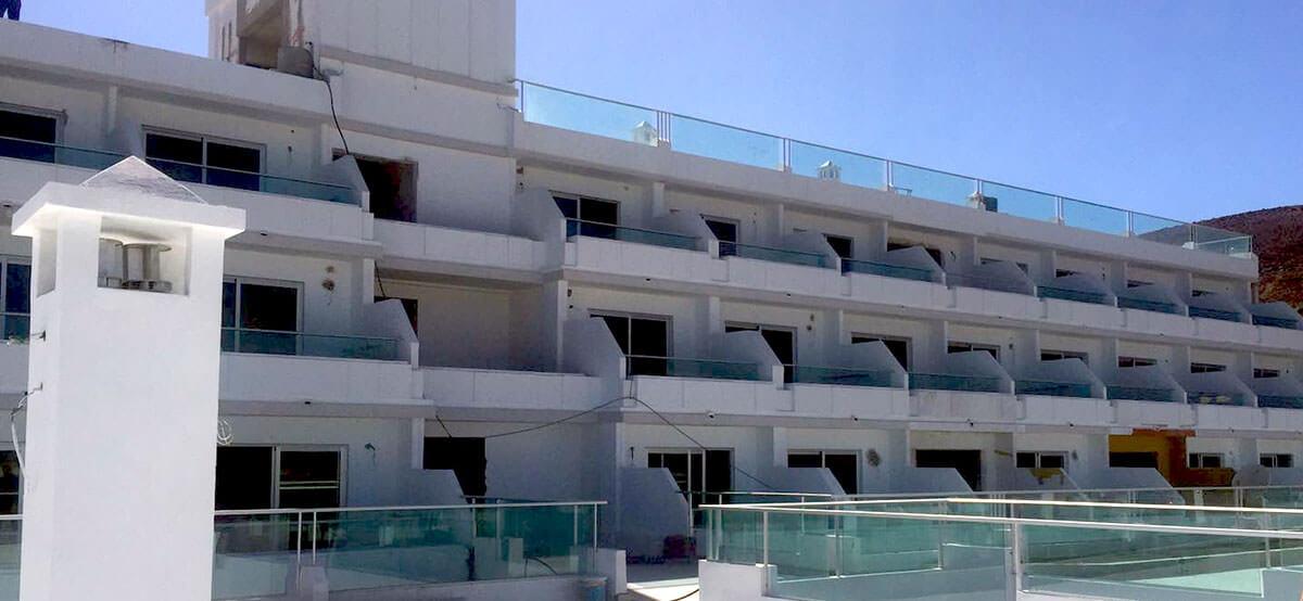 visión global del hotel cactus garden en fuerteventura